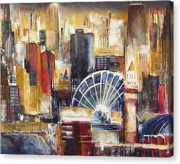 Chicago From Navy Pier Canvas Print by Kathleen Patrick