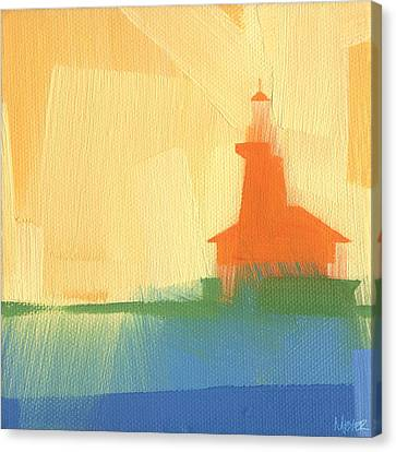 Chicago Harbor Light 6 Of 100 Canvas Print by W Michael Meyer