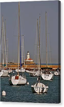 Chicago Harbor Lighthouse Illinois Canvas Print by Christine Till