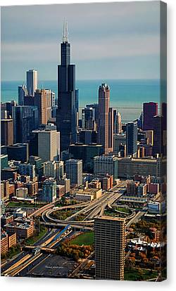 Chicago Highways 05 Canvas Print by Thomas Woolworth