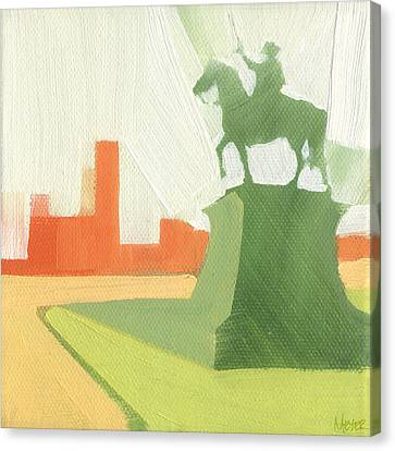 Chicago Kosciuszko Statue 15 Of 100 Canvas Print by W Michael Meyer