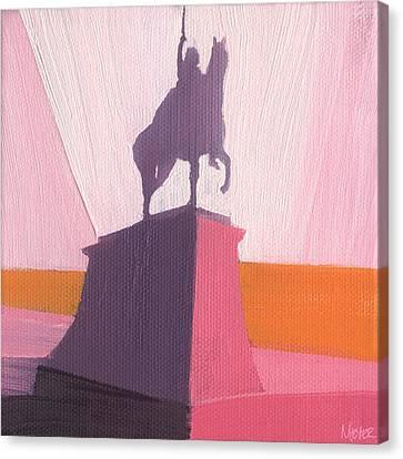 Chicago Kosciuszko Statue 16 Of 100 Canvas Print by W Michael Meyer