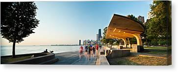 Chicago Lakefront Panorama Canvas Print by Steve Gadomski
