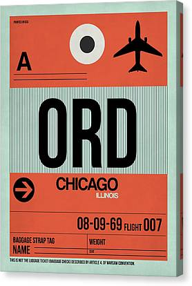 Chicago Luggage Poster 2 Canvas Print by Naxart Studio