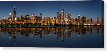 Chicago Reflected Canvas Print by Semmick Photo