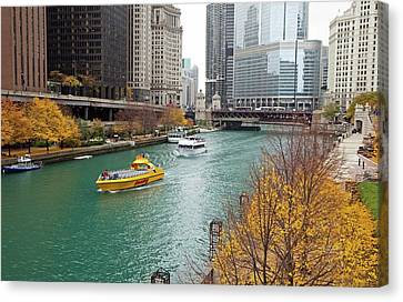 Chicago River Canvas Print by Jim West