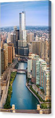 Chicago River Sunrise Canvas Print by Steve Gadomski