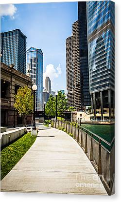 Chicago Riverwalk Picture Canvas Print by Paul Velgos