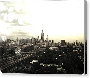 Chicago Skyline Canvas Print by Mike Maher