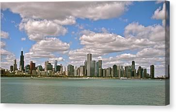 Chicago Skyline Canvas Print by Sharin Gabl