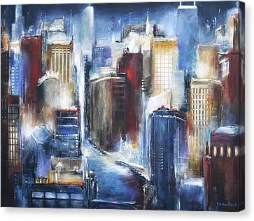 Chicago Skyline - The Chicago River Canvas Print by Kathleen Patrick