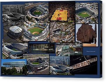 Chicago Sports Collage Canvas Print by Thomas Woolworth