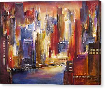 Chicago -the River View Canvas Print by Kathleen Patrick