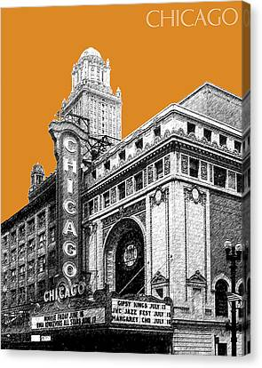 Chicago Theater - Dark Orange Canvas Print by DB Artist