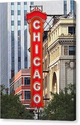 Chicago Theatre - A Classic Chicago Landmark Canvas Print by Christine Till