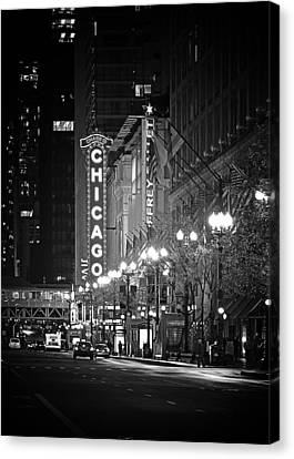 Chicago Theatre - Grandeur And Elegance Canvas Print by Christine Till