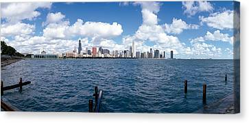 Chicago Waterfront, Adler Planetarium Canvas Print by Panoramic Images