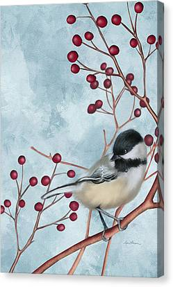Chickadee I Canvas Print by April Moen