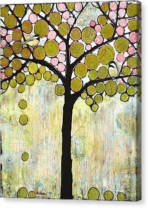 Chickadee Tree Canvas Print by Blenda Studio