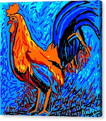 Chicken-5 Canvas Print by Anand Swaroop Manchiraju