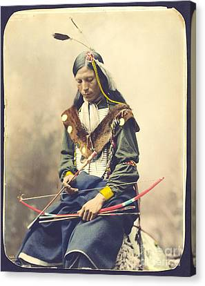 Chief Bone Necklace - Sinte Canvas Print by Pg Reproductions