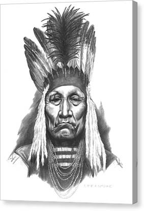 Chief Curly Bear Canvas Print by Lee Updike