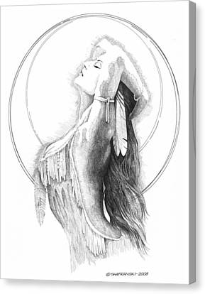 Chief's Daughter Canvas Print by Paul Shafranski