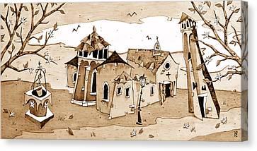 Chiesa San Giacomo Dall'orio Italia Canvas Print by Arte Venezia