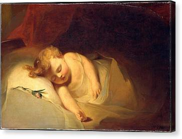 Child Asleep Canvas Print by Celestial Images