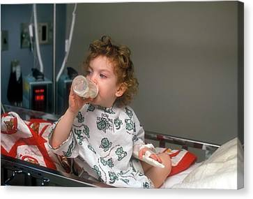 Child Hospitalised With Asthma Canvas Print by Jim West