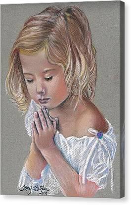 Child In Prayer Canvas Print by Tonya Butcher