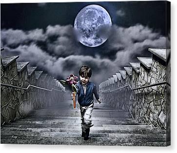 Child Of The Moon Canvas Print by Joachim G Pinkawa