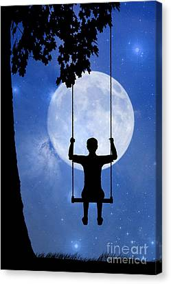 Childhood Dreams 2 The Swing Canvas Print by John Edwards