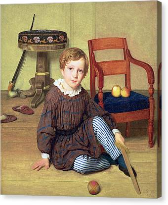 Childhood Canvas Print by Ludvig August Smith
