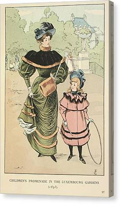 Children's Promenade Canvas Print by British Library