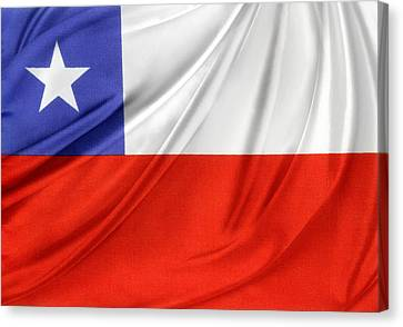 Chile Flag  Canvas Print by Les Cunliffe