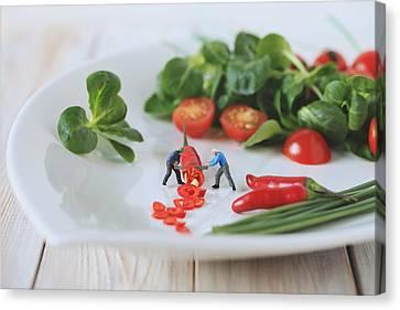 Chilli Salad For Tonight's Dinner Canvas Print by Gediminas Karbauskis