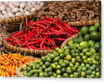 Chillies 01 Canvas Print by Rick Piper Photography