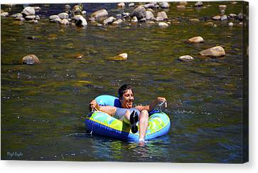 Chillin On The River Canvas Print by Floyd Snyder