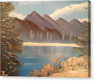 Chilly Mountain Lake Canvas Print by Tim Blankenship