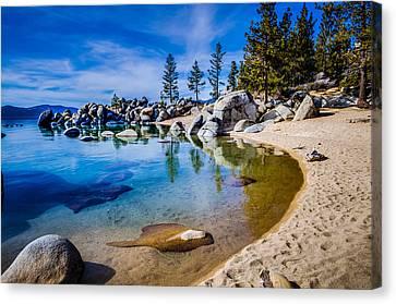 Chimney Beach Lake Tahoe Shoreline Canvas Print by Scott McGuire