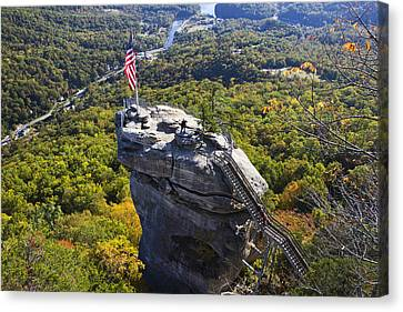Chimney Rock North Carolina Canvas Print by Pierre Leclerc Photography