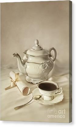 Tea Time Canvas Print by Jaroslaw Blaminsky