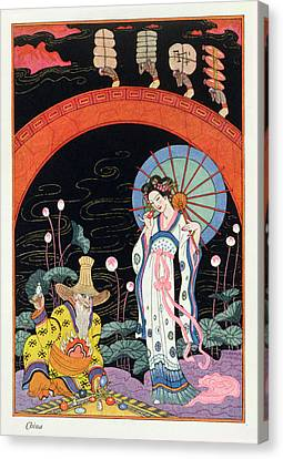 China Canvas Print by Georges Barbier