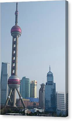 China, Shanghai View From The Bund Canvas Print by Cindy Miller Hopkins