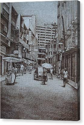 China Town Canvas Print by Hezekiah Lopez