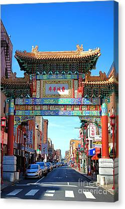 Chinatown Friendship Gate Canvas Print by Olivier Le Queinec