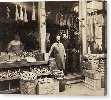 Chinatown Grocery Store Canvas Print by Underwood Archives