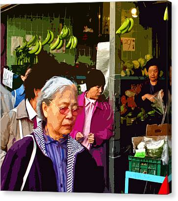 Chinatown Marketplace Canvas Print by Joseph Coulombe