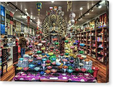 Chinatown Store Display San Francisco  Canvas Print by The  Vault - Jennifer Rondinelli Reilly